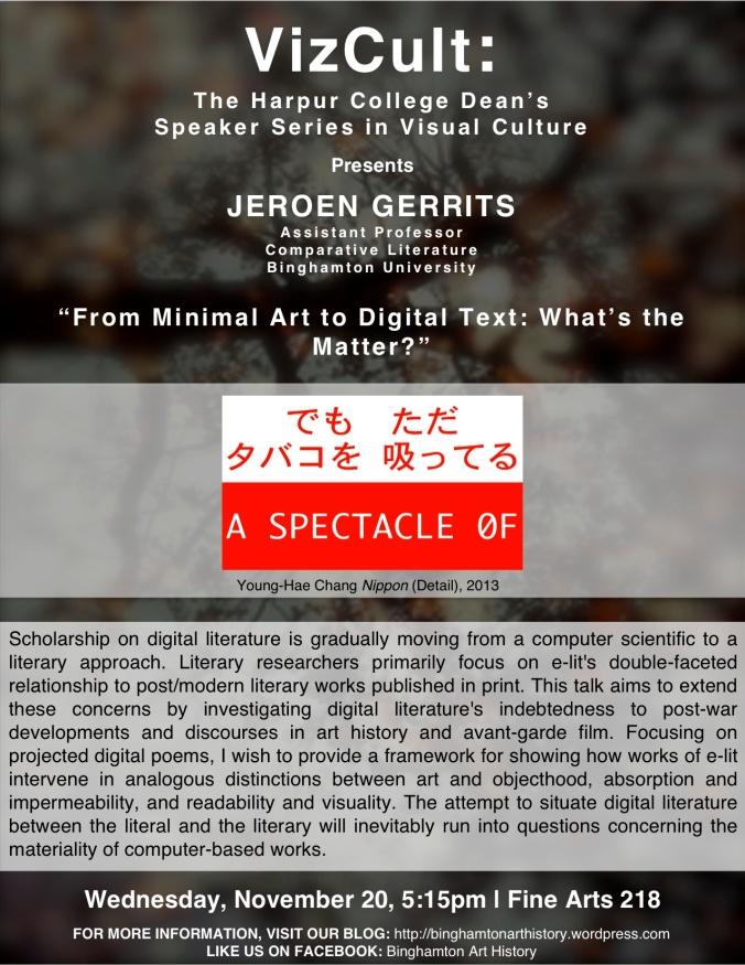 Jeroen Gerrits Flyer