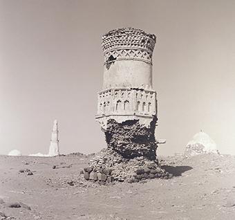 Detail: Minaret at Mocha, Yemen, 1996 Lynn Davis (American, 1944–) Selenium-toned gelatin silver print United States