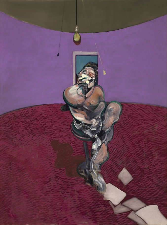 Francis Bacon, Portrait of George Dyer Talking. Oil on canvas, 1966.