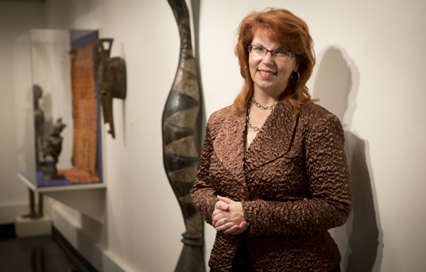 Diana Butler, the new University Art Museum Director, pictured in the museum located at the Fine Arts Building, Monday, October 15, 2012.